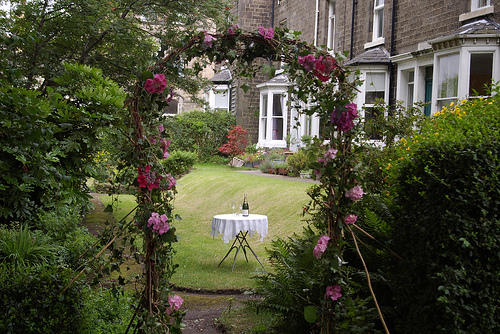 arch for a garden wedding