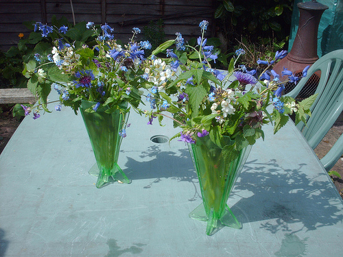home grown wedding flowers