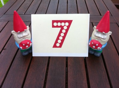 card and photo table numbers