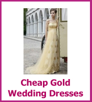 cheap gold wedding dresses