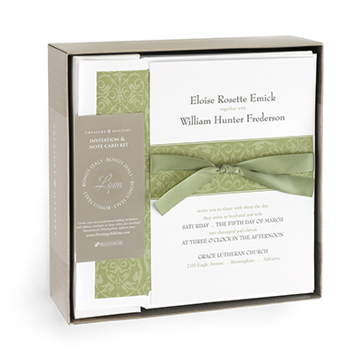 olive green wedding invitation kit