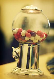 pink gumball centerpiece