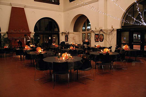 halloween wedding reception