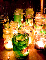 mason jar wedding centerpieces with candles