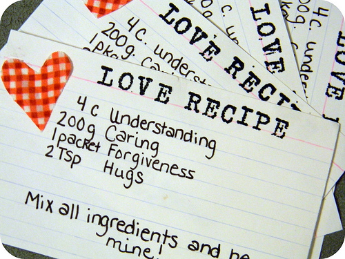 love recipe favor