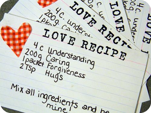 love recipe favor