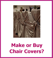 make or buy wedding chair covers