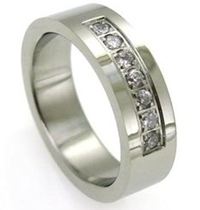 mens cz wedding band