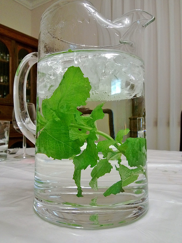 minty water wedding drinks