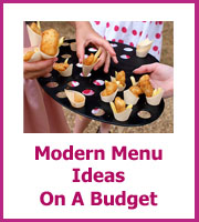 modern wedding menu ideas