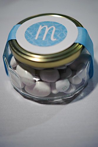 monogram wedding favor