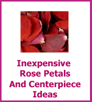 inexpensive wedding rose petals
