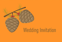 pinecone wedding invite