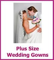 cheap plus size wedding gown
