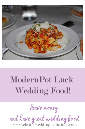 pot luck wedding food