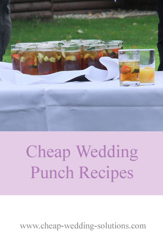 cheap wedding punch recipes