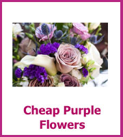 cheap purple wedding flowers