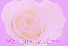 purple rose wedding invitation