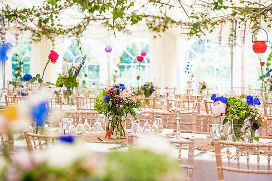 This gorgeous wedding tent has been decorated by county marquees and