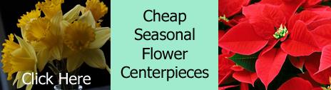 cheap seasonal flower centerpiece