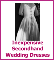 inexpensive secondhand wedding dresses