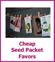 cheap seed packet wedding favors