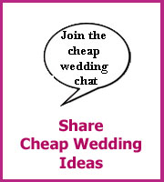 share cheap wedding ideas