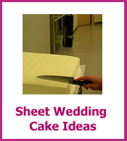 cheap sheet wedding cake ideas