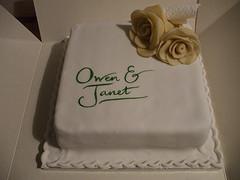 Single Tier Square Wedding Cake Designs Ideas