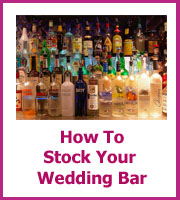 how to stock yuor wedding bar