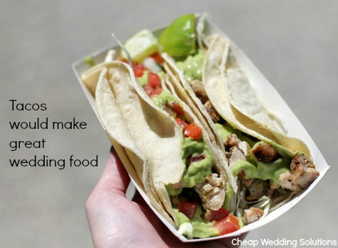 tacos for wedding food