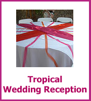 cheap tropical wedding reception