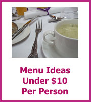 wedding menu ideas for under $10