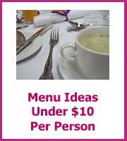 wedding menu ideas for under $10