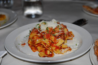 wedding reception pasta
