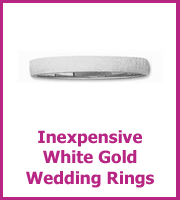 white gold wedding ring size