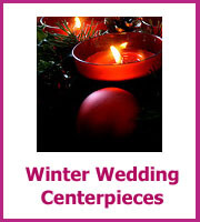 inexpensive winter wedding centerpieces