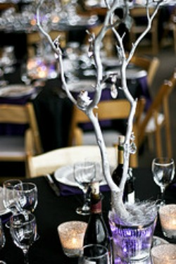 silver branch centerpiece