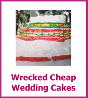 wrecked cheap wedding cakes