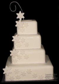 white star wedding cake