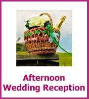 afternoon wedding reception