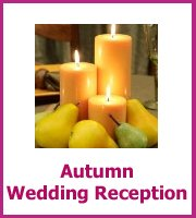 autumn wedding reception