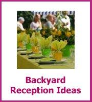 backyard wedding reception
