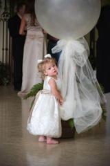 white round wedding balloon