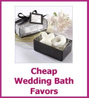 cheap wedding bath favors