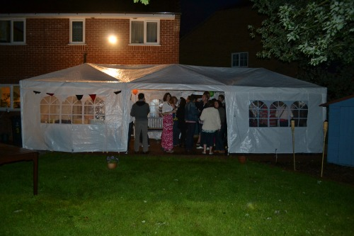 reception party tent