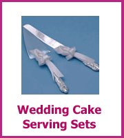 cheap wedding cake serving sets