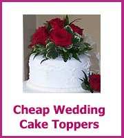cheap wedding cake toppers