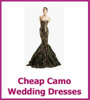 cheap camo wedding dresses