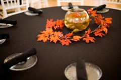 Subtle camo color wedding decorations